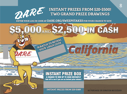 D.A.R.E. Sweepstakes Round 8 - California