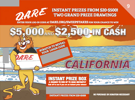 D.A.R.E. Sweepstakes Round 9 - California